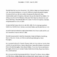 Obituary for Wendell Hull
